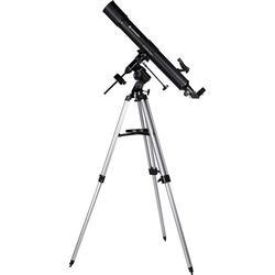 Bresser Optik Linsen-Teleskop Quasar EQ 80/900 carbon Äquatorial Achromatisch, Vergrößerung 45 bi