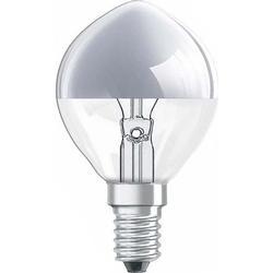 Glühlampe 80 mm OSRAM 230 V E14 25 W Silber EEK: E Tropfenform dimmbar Inhalt 1 St.
