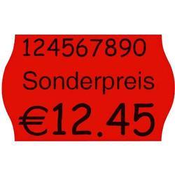 Checkpoint METO Preisauszeichnungsetikett leuchtrot permanent Minipack