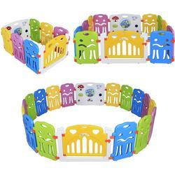 Kinderlaufgitter Laufgitter aus Kunststoff mit Tür und Spielzeugboard Musik in verschiedenen Größen