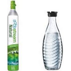 SodaStream Reserve-Zylinder 60l + 1 Glaskaraffe