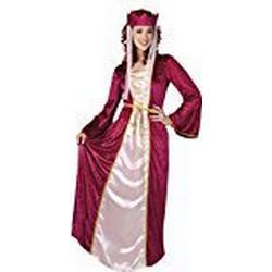 erdbeerloft / Damen Maxikleid Prinzessinnenkostüm , Rot, Größe XS