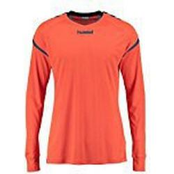 Hummel Herren Auth Charge LS Poly Jersey T/Shirt, orange (Nasturtium/Ombre Blue), XXL