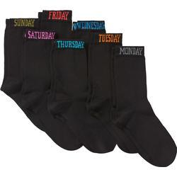 Socken mit Wochentagen (7er-Pack) in schwarz von bonprix