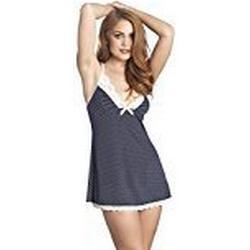 Leg Avenue Damen Pünktchen Jersey Slip Dress Unterkleid Nachthemd dunkelblau navy M