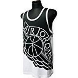 Nike Wings Blockout T/Shirt Basketball, Herren M Schwarz / Weiß