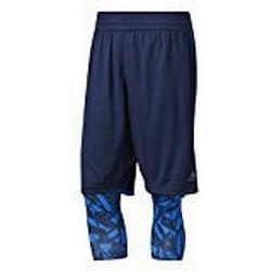 adidas Herren Essential 2 in 1 Shorts, Collegiate Navy/Energy Blue, XL