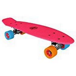 Nijdam Kinder Skateboard Kunststoff, Fuchsia/Orange/Blau, 52NF