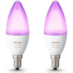 Philips Lighting Hue LED-Leuchtmittel (2er-Set) E14 6.5 W RGBW