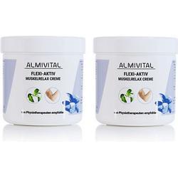 ALMIVITAL Flexi-Aktiv- Muskelrelaxcreme mit Kampfer 2x 250 ml