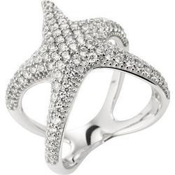 STRANDFEIN Ring Seestern poliert Silber 925