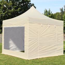 Faltpavillon 3x3m beige Klappzelt, Partyzelt, Gartenzelt, Faltzelt