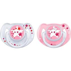 Philips Avent Night-Time Soother 6-18M 2 Pack Pink