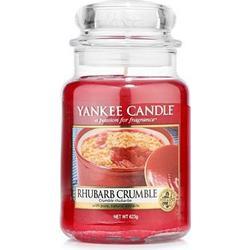 YANKEE CANDLE Duftkerze Rhubarb Crumble Brenndauer 110-150h 623g