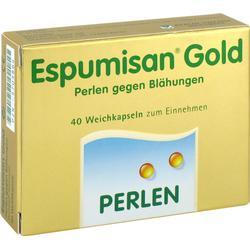 ESPUMISAN Gold Perlen gegen Blähungen 40 St