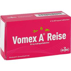 VOMEX A Reise 50 mg Sublingualtabletten 4 St