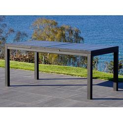Erweiterbarer Gartentisch Miami, 180/240x90x78cm, schwarz