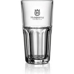 Husqvarna clear glass tumbler with Husqvarna logo - 31cl, 12 pcs