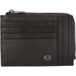 Piquadro Black Square Kreditkartenetui RFID Leder 12,5 cm dunkelbraun
