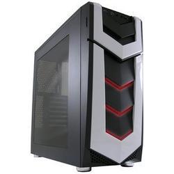 LC-Power Midi-Tower, ATX Gaming Gehuse 987B, Silent Slinger, schwarz, ohne Netzteil