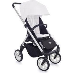 EasyWalker Mini Stroller Silver with White Wheels