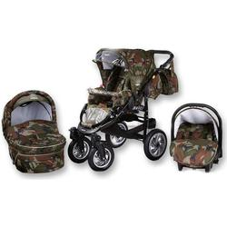 Tabbi MT1 BX | 3 in 1 Kinderwagen Komplettset | Farbe: Army