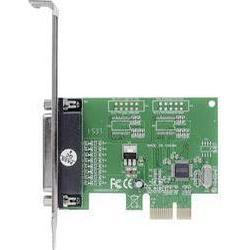 1 Port Parallele Steckkarte Parallel (IEEE 1284) PCIe Manhattan Parallele PCI-Express-Karte 1 DB25-Port geeignet für PCIe x1 x2 x4 x8 und x16