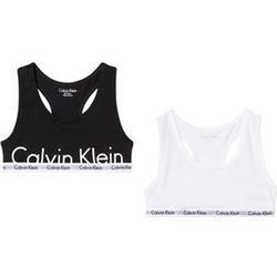 Calvin Klein 2-Pack White/Black Branded Bralettes 10-12 years