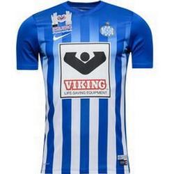 Nike Striped Division II T-Shirt Unisex - Blau/Weiß - M