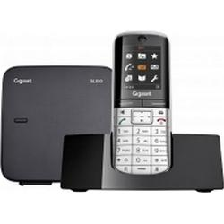 Gigaset Schnurloses Telefon analog SL350 Babyphone, Freisprechen, Headsetanschluss Metall, Piano-Sc