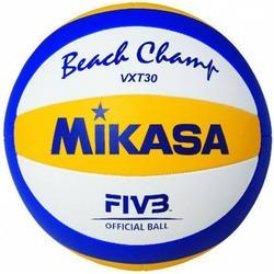 Mikasa Beachvolleyball Beach Champ VXT 30 (Größe: 5, Farbe: 900 weiß/gelb/blau)