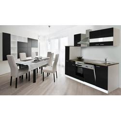 Küchenzeile mit E-Geräten, Breite 250 cm
