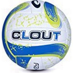 Spokey Clout II Kunststoff Leder Volleyball, Größe: 5 L blau