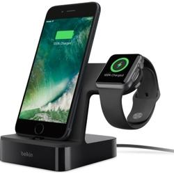 BELKIN Apple Watch + iPhone Duo Ladestation, Schwarz Ladestation