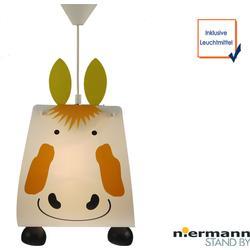Originelle LED Kinderzimmerlampe tierisch leuchtende Pendelleuchte Pferd