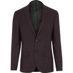Skinny Fit Anzugjacke in Bordeaux aus Wollmischung