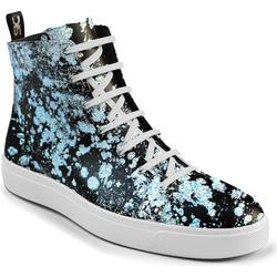 Gianmarco - Frau Silber Spray print Leder hallo Top Sneaker