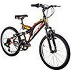 F. lli Schiano Rider Full Hängeleuchte Shimano Fahrrad Herren, Herren, Rider Full Suspension Shimano, schwarz / rot