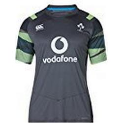 Official IRFU Herren Ireland Rugby Vapodri Plus Graphic T/Shirt, Asphalt, XL