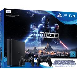 Sony Computer Entertainment Playstation® 4 Konsole Slim 1 TB Schwarz inkl. Star Wars, inkl. 2 Controller