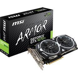 MSI Grafikkarte Nvidia GeForce GTX1070 Ti Armor 8 GB GDDR5-RAM PCIe x16 HDMI™, DVI, DisplayPort