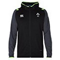 Offizielles IRFU Herren Irland Rugby Fleece Full Zip Hoody S Tap Shoe