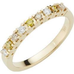 9 Brillanten Ring zus. ca. 0,25ct weiß/gelb/braun Gold 585