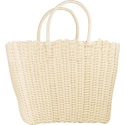 Shopping bag: weiss, plastik, 44 x 15 x 30 cm