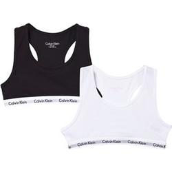 Calvin Klein Two Packet of White and Black Cotton Bralets 6-7 years