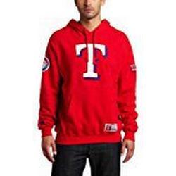 MLB Texas Rangers Stolz sein Lange Ärmel Hooded Fleece Pullover, Herren, Athletic Red/Athletic Navy
