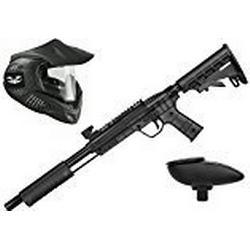 Valken Kinder Kids Tactical Gotcha Gun Inkl. MI/3 Maske und Loader 120/Cal. 50, 0.5 J/Smoke Paintball Markierer Set, Grau/Schwarz, M