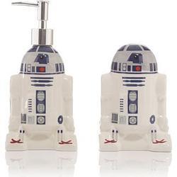 STAR WARS R2-D2 Keramik Bad-Set Seifenspender & Zahnbürstenhalter