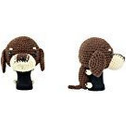 Amimono Dackel Treiber Golf Head Cover, Dark Brown/Beige