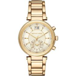 Michael Kors MK6362 Sawyer Champagne colored/Yellow gold toned steel Ø39 mm